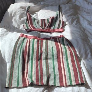 Never worn - stripped 2 piece set